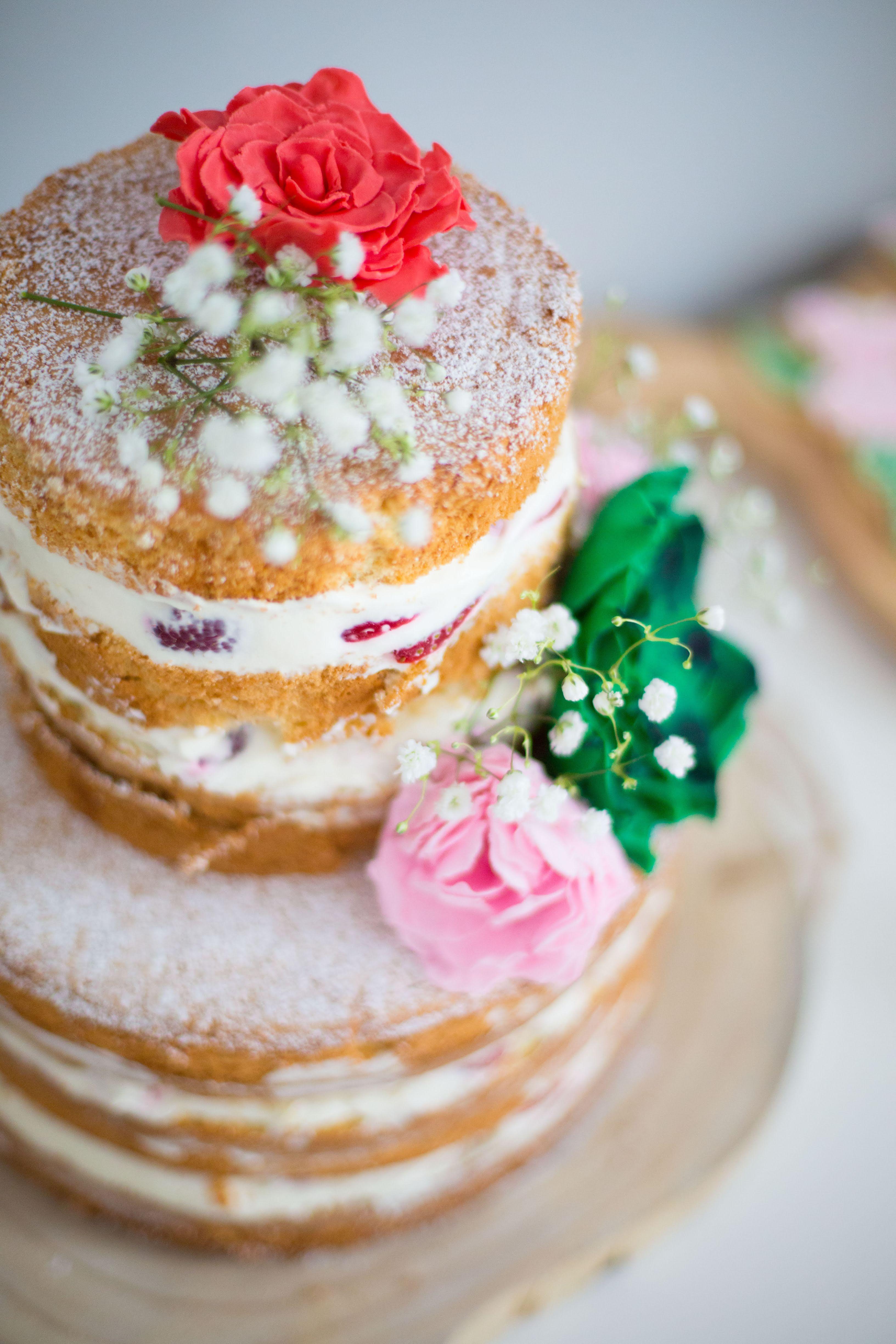 naked cake coloré